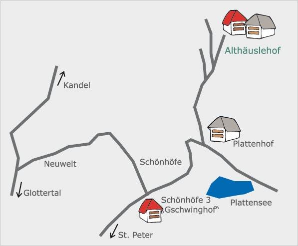 Lage Anfahrt Althäuslehof Ferienwohnungen Schwarzwald